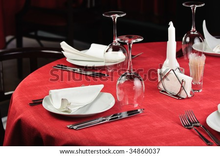 quality served restaurant table