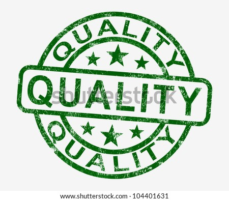 Quality Stamp Showing Excellent Superior Premium Product - stock photo