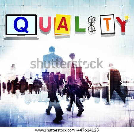 Quality Standard Value Condition Guarantee Concept - stock photo