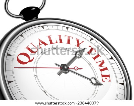 quality time concept clock isolated on white background - stock photo