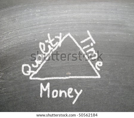 Quality Time Money - stock photo