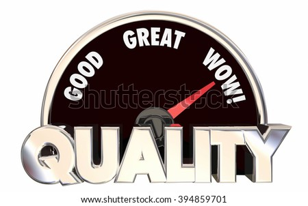 Quality Top Level Best Rated Speedometer 3d Words - stock photo