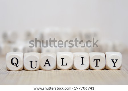 Quality word concept - stock photo
