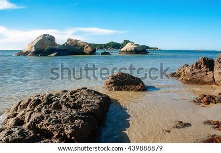 QUANG BINH, Vietnam, September 12, 2015 reefs, seas Quang Binh, central Vietnam