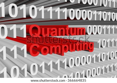 quantum computing is presented in the form of binary code - stock photo