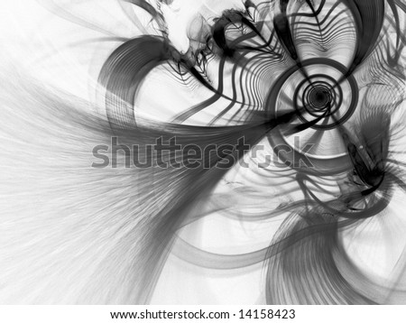 Quantum Spiral - Fractal Illustration - stock photo