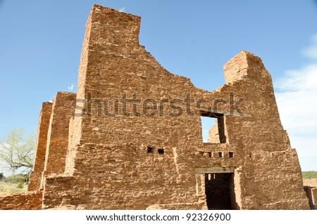 Quarai in Salinas Pueblo Missions National Monument - stock photo