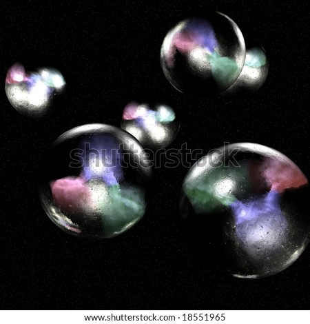 Quarks Quarks are elementary particles that help make up all the matter in the universe - stock photo