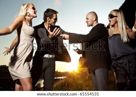 Quarreling couple - stock photo