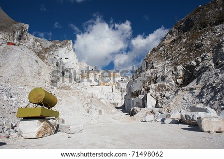 quarries carrara - stock photo