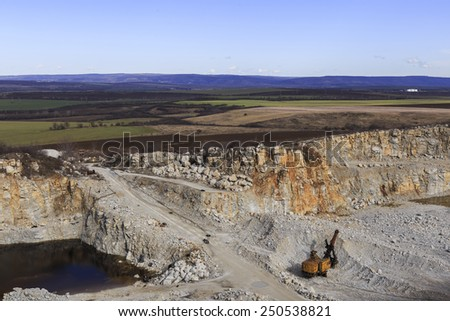 Quarry against the background of nature - stock photo