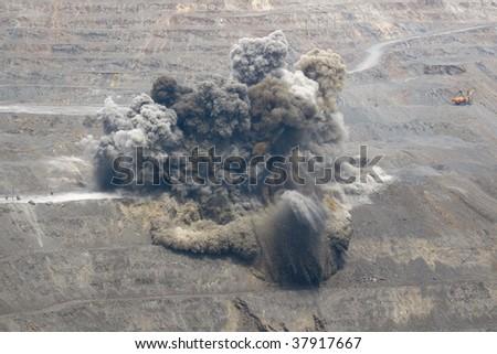 Quarry Blast - stock photo