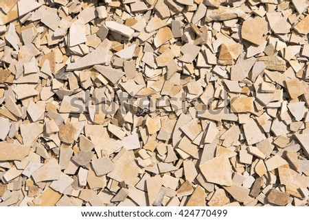 Quarry in Altmuehltal in Germany - stock photo