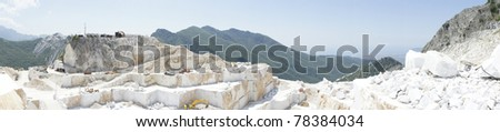 quarry in carrara, tuscany italy