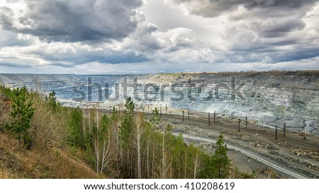 quarry mining in Asbest, Russia
