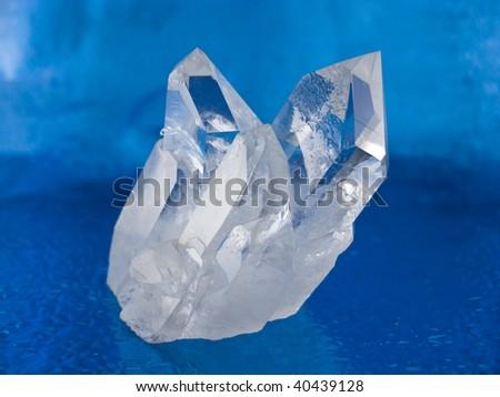 Quartz crystals - stock photo