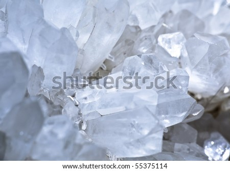 quartz mineral - stock photo