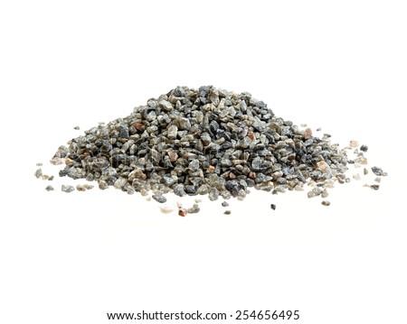Quartz stones isolated on white. - stock photo