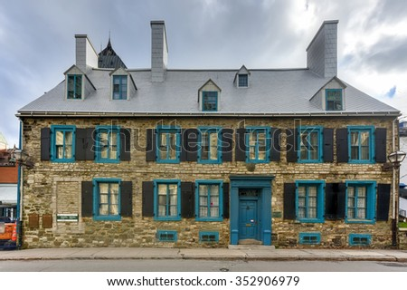 Quebec City, Canada - November 28, 2015: The Maillou House is a historic example of a rich landowner's residence under the French regime, when Quebec City increasingly became a city of tenants.