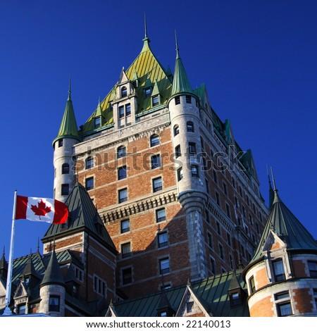 Quebec City most famous landmark, Chateau Frontenac - stock photo