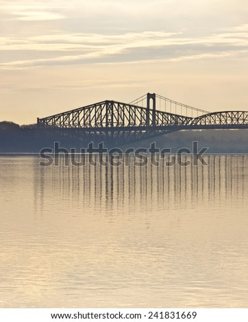 Quebec City's Two bridges seen from ST. Lawrence River.