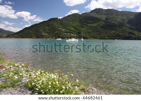 Queen Charlotte Sound - famous scenic tourism destination in Marlborough region of New Zealand