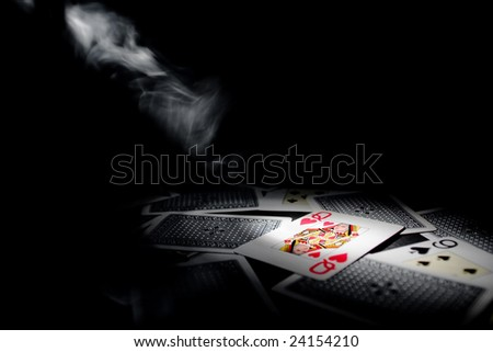Queen of Hearts, Playing cards - stock photo