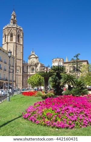 Queen square, Valencia - stock photo