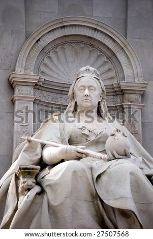 Queen Victoria Memorial from 1911, Buckingham Palace, London - stock photo