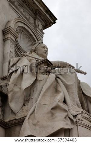 Queen Victoria Memorial. Near the Buckingham Palace. London. UK. - stock photo