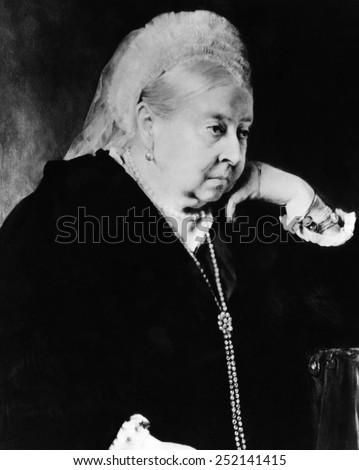 Queen Victoria (1819-1901), Queen of the United Kingdom 1837-1901, c. 1897. - stock photo