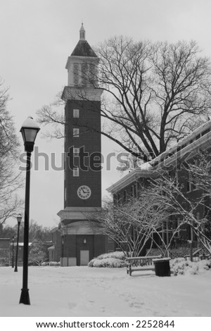 Queens College under a blanket of snow