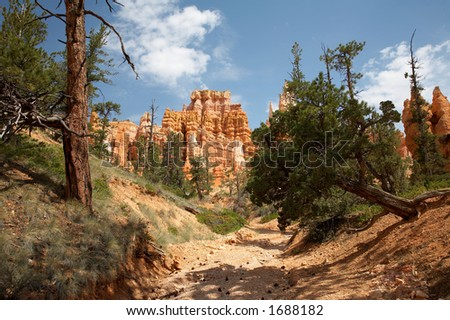 Queens Garden Trail Bryce Canyon National Park Utah - stock photo