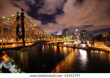 Queensboro Bridge at Night - stock photo