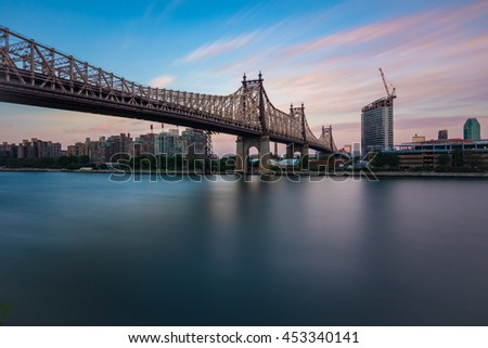 Queensboro Bridge during Sunset - stock photo