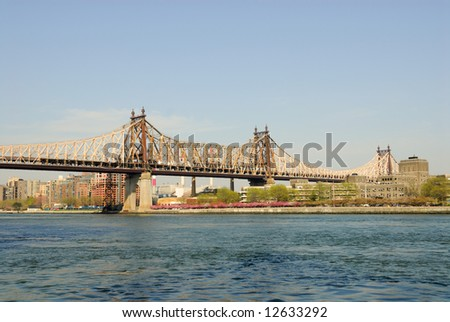 Queensboro Bridge, New York - stock photo
