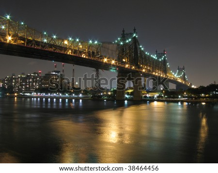 Queensboro Bridge, view from Manhattan, New York - stock photo