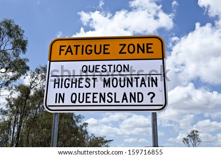 Queensland campaign to keep drivers awake on the state roads - stock photo