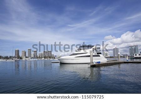 Queensland Gold Coast ports - stock photo