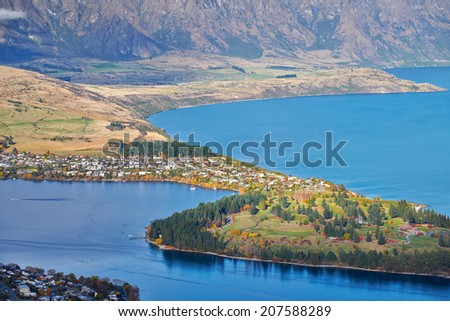 Queenstown and Lake Wakatipu, South Island, New Zealand