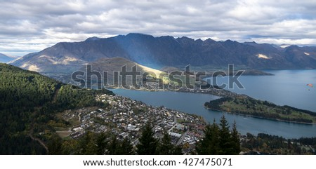 Queenstown City and Flairs - stock photo