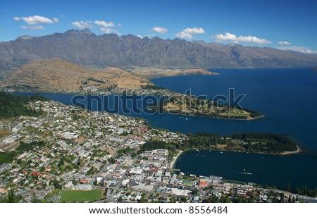 Queenstown in New Zealand - stock photo