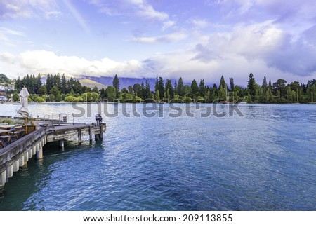 Queenstown in South Island, New Zealand - stock photo