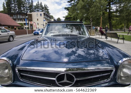Vintage Car On Roadside Stock Images Royalty Free Images