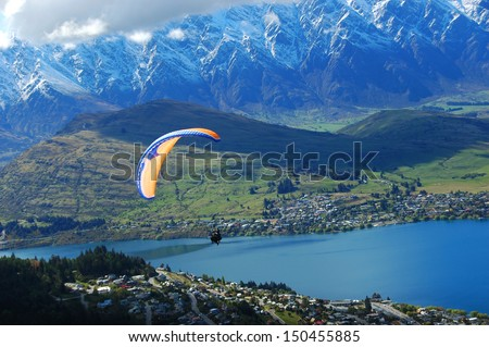 Queenstown Parachute - stock photo