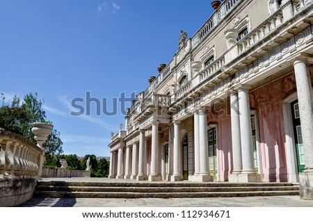 Queluz national palace in Queluz, Portugal - stock photo