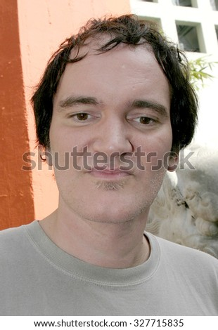 Quentin Tarantino at Christopher Walken Honored With A Hand & Footprints Ceremony held at the Grauman's Chinese Theatre in Hollywood, USA on October 8, 2004.