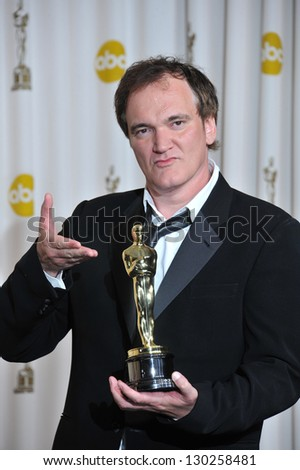 Quentin Tarantino at the 85th Academy Awards at the Dolby Theatre, Los Angeles. February 24, 2013  Los Angeles, CA Picture: Paul Smith - stock photo