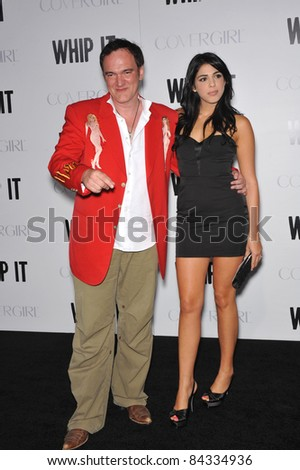 "Quentin Tarantino & date at the Los Angeles premiere of ""Whip It"" at Grauman's Chinese Theatre, Hollywood. September 29, 2009  Los Angeles, CA Picture: Paul Smith / Featureflash"
