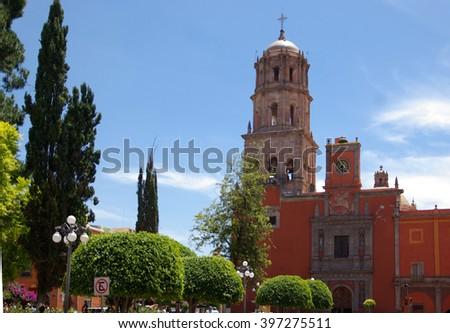 Queretaro, Mexico, Temple San Francisco - stock photo